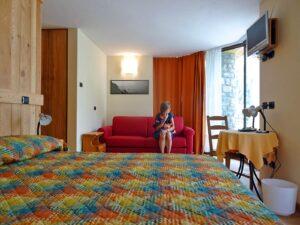 Camera tripla all'Hotel Aigle, Courmayeur Mont Blanc.