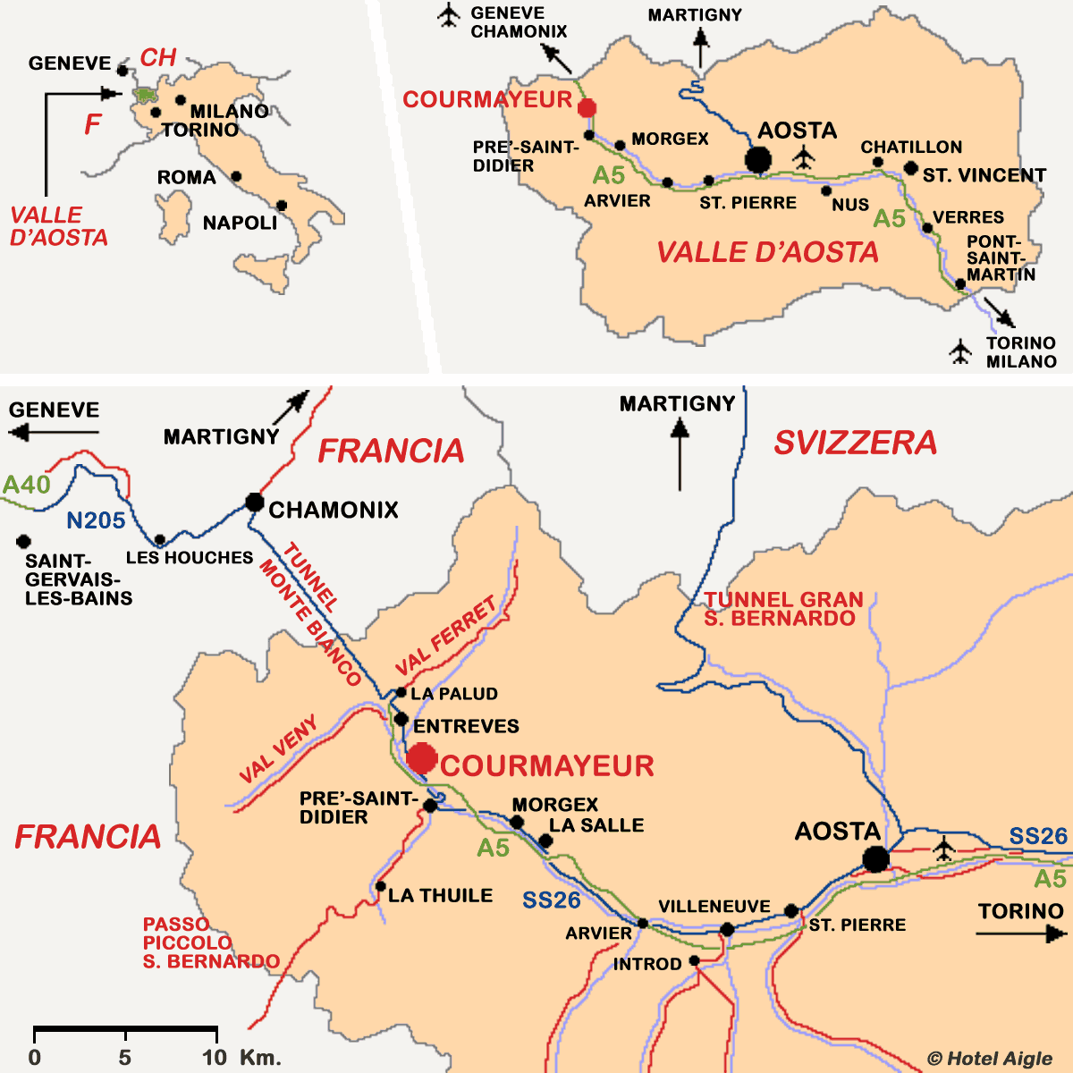 How to get to Courmayeur Mont Blanc.