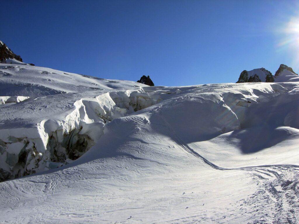 Il ghiacciaio del Gigante.