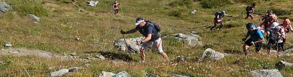 Corsa in montagna a Courmayeur