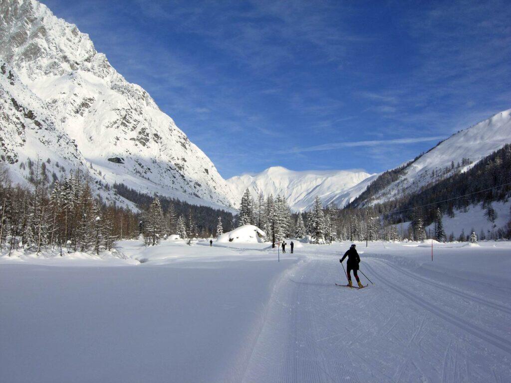 La Val Ferret, paradiso dello sci da fondo.