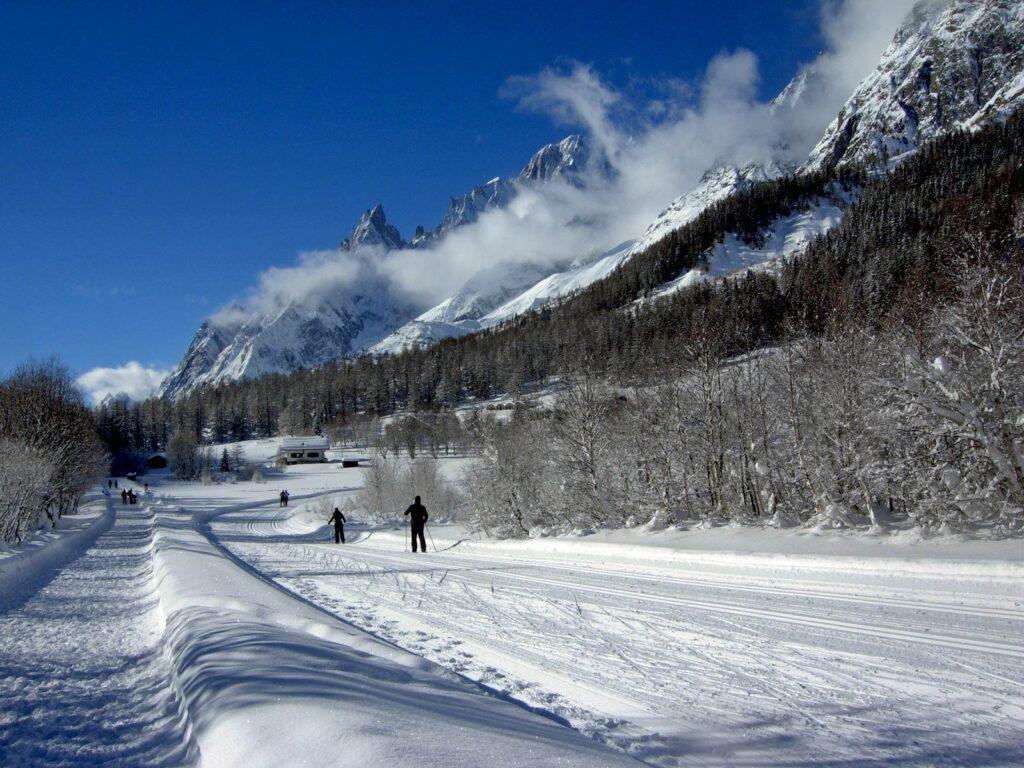 Sci da fondo in Val Ferret.