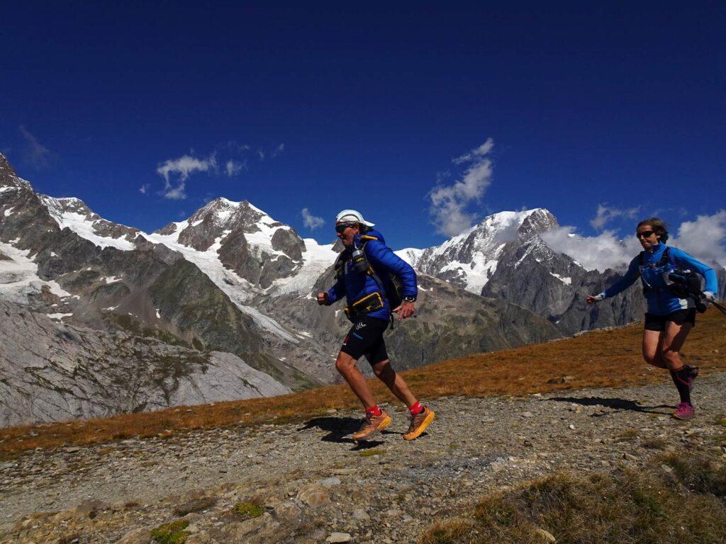 Trail running sui sentieri della Val Veny.