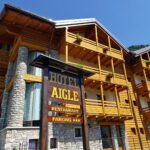 Scorcio dell'Hotel Aigle a Courmayeur Mont Blanc.