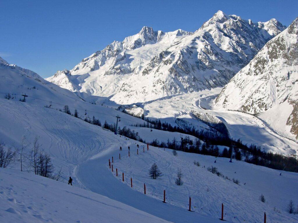 La Val Veny ammantata di neve.