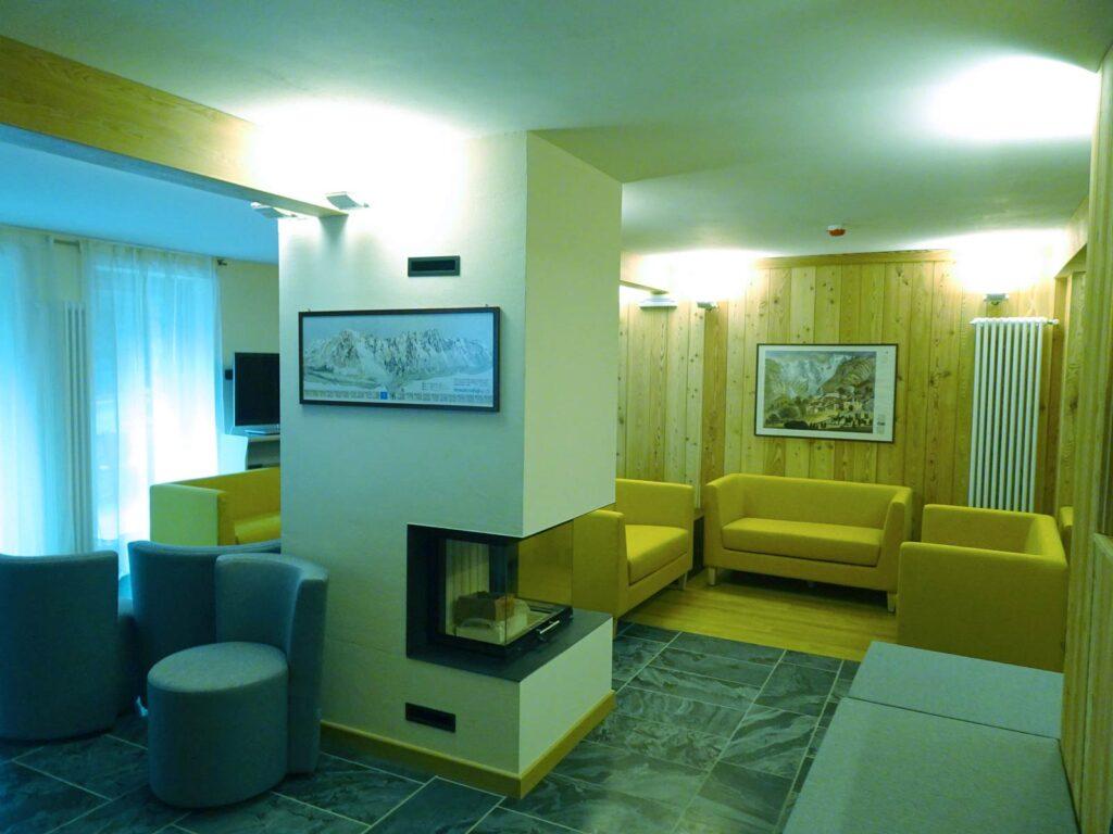 Scorcio della zona relax dell'Hotel Aigle.