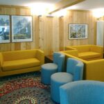 Angolo di relax all'Hotel Aigle a Courmayeur Mont Blanc.