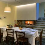 The restaurant of the Hotel Aigle Courmayeur Mont Blanc.